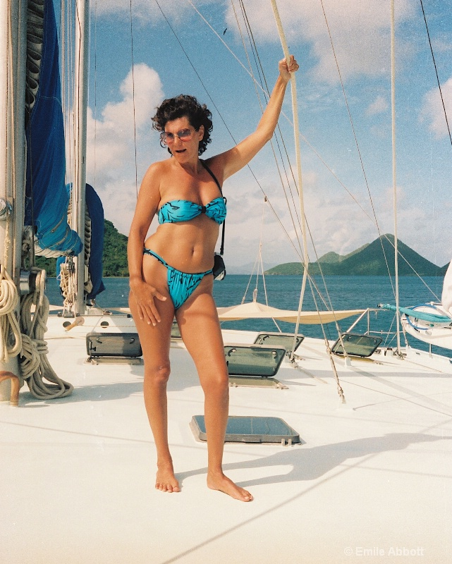 MY WIFE FRANCES IN BVI