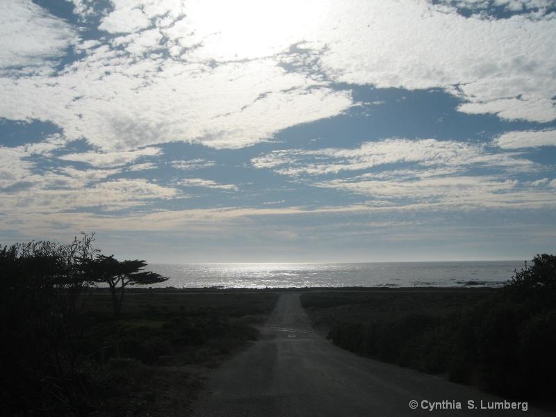 Ocean Road in Pebble Beach, California