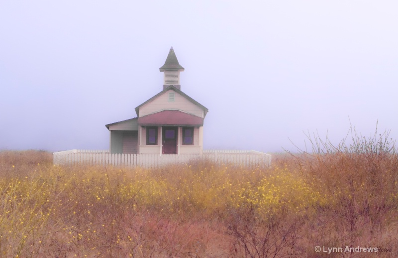 Country Church in the Fog