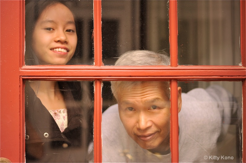 Ken and Yumiko at the Window