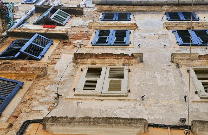Wall of Shutters@@Corfu, Greece