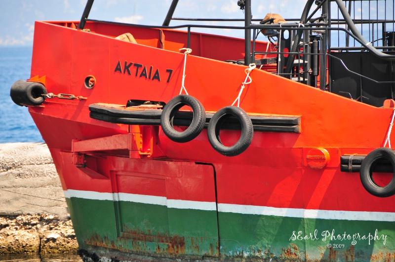 Red Boat@@Corfu, Greece