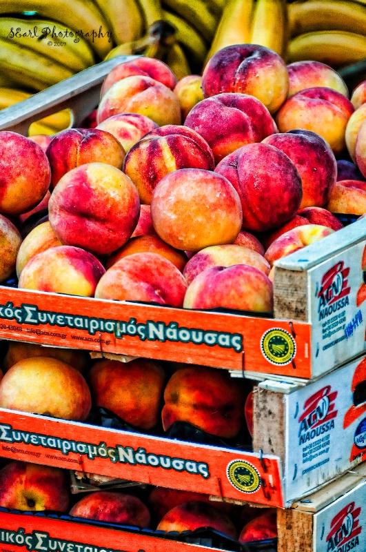 Peaches for Sale@@Corfu, Greece