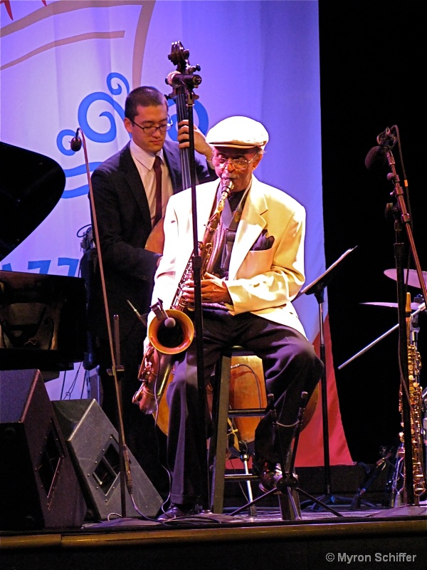 Jimmy Heath and bass