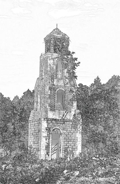 Kinderhook tower pen and ink filter