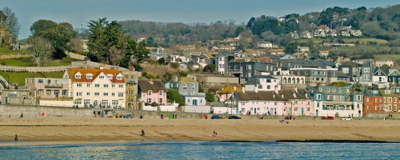 Lyme Regis above Marine Parade