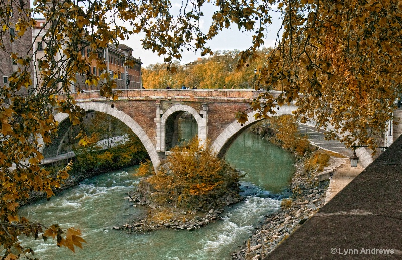 Over the Tiber in Rome