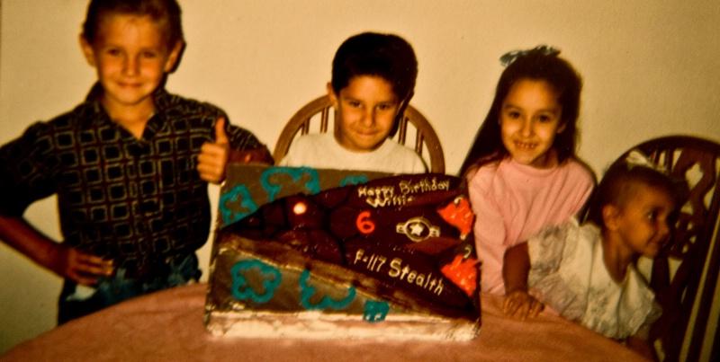 Will's F-117 Stealth Nighthawk Cake
