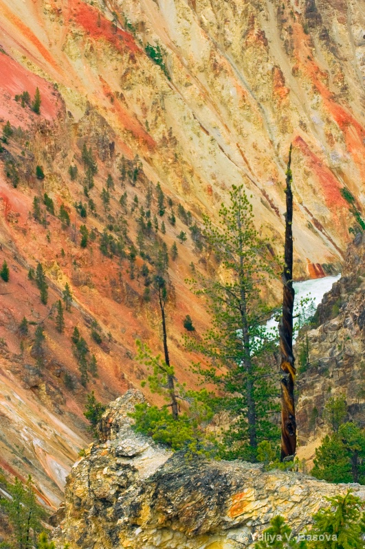 Colours of the Yellowstone River.<p>