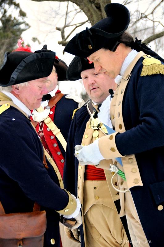 Reenactment of Washington Crossing  the Delaware