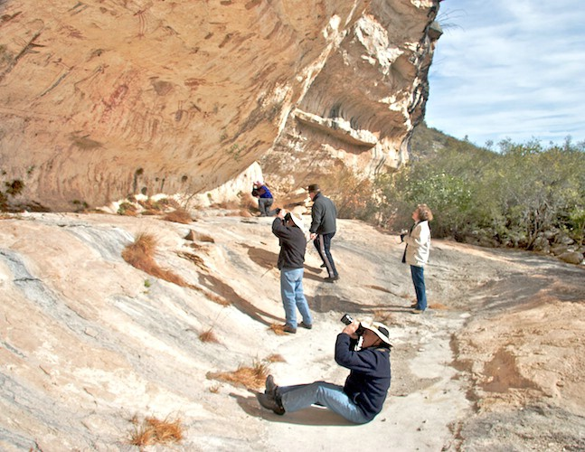 Rock Art Foundation members photographing