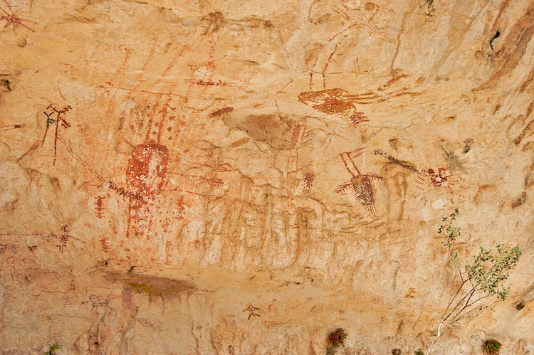 Right end of Cedar Spring Pictographs
