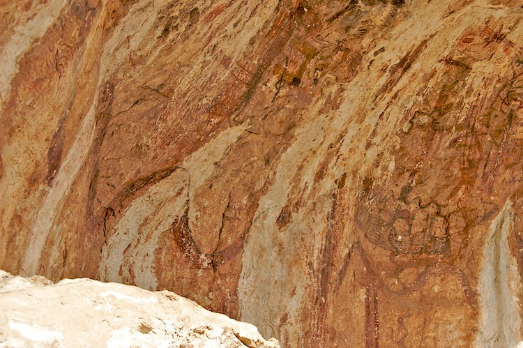 Portion of the pictographs