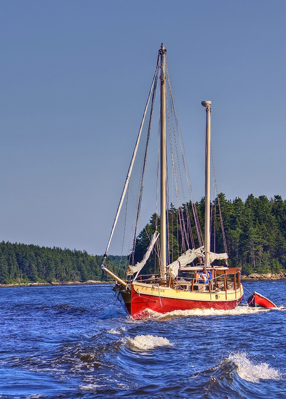 Sailing Through Maine
