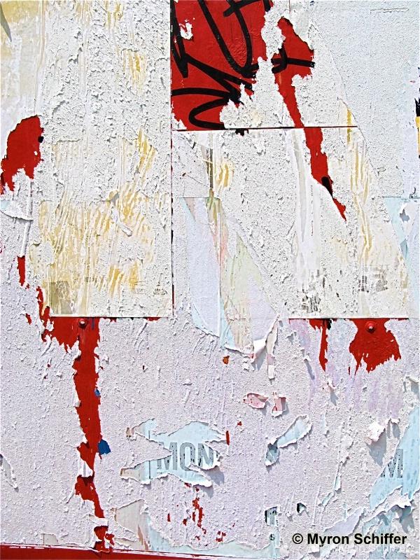 Peeling Paper Collage, No. 5128