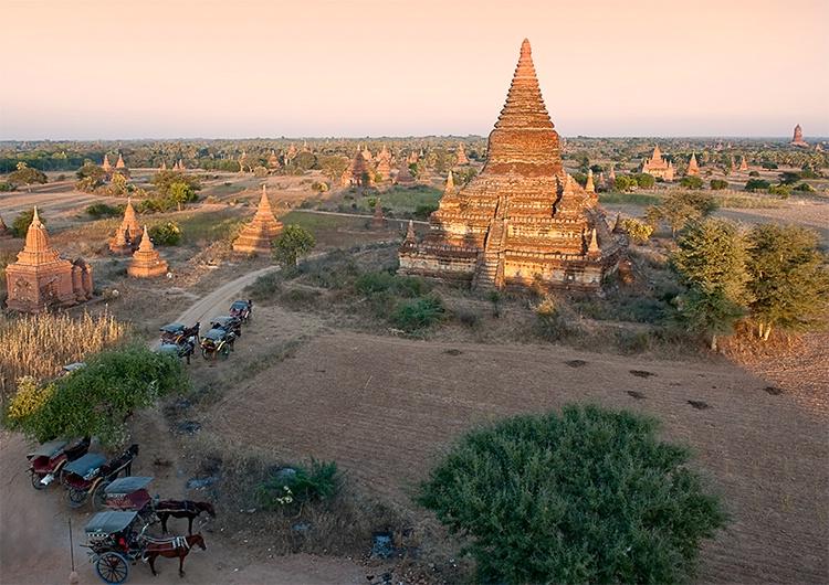 Bagan, Parking Lot, Myanmar (Burma)