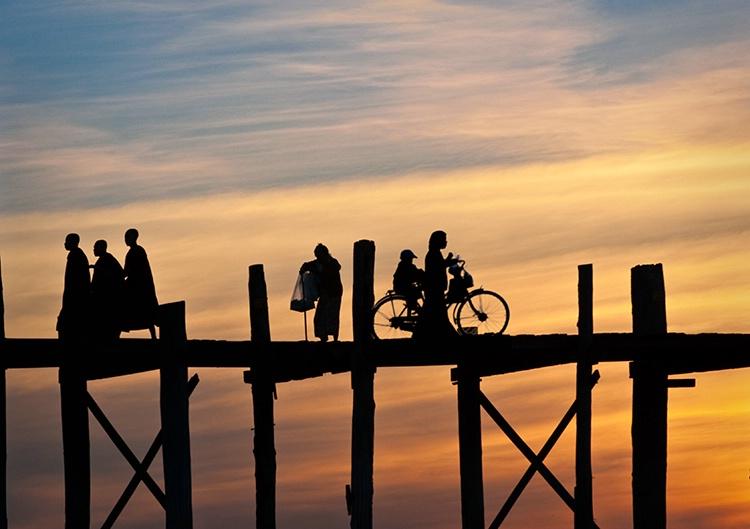 U Bein Bridge, Sunset, Myanmar (Burma)