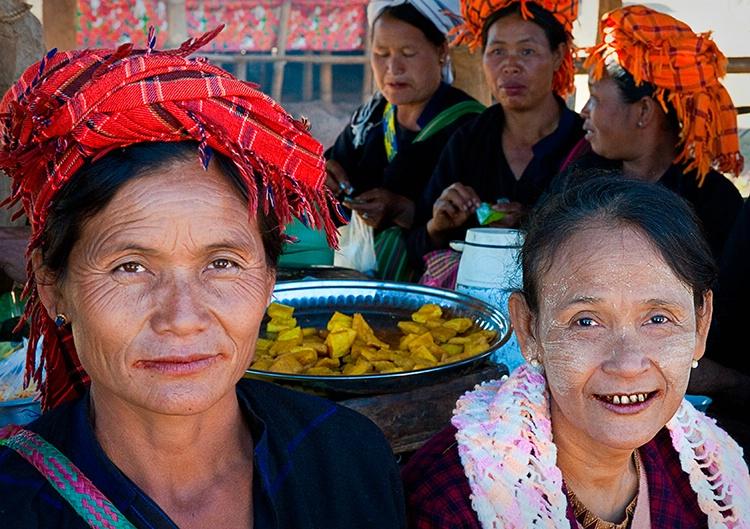 Market Ladies, Myanmar (Burma)