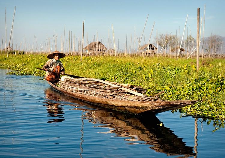 Inle Lake Transportation, Myanmar (Burma)