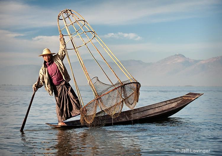 Inle Lake, Fisherman Standing, Myanmar (Burma)