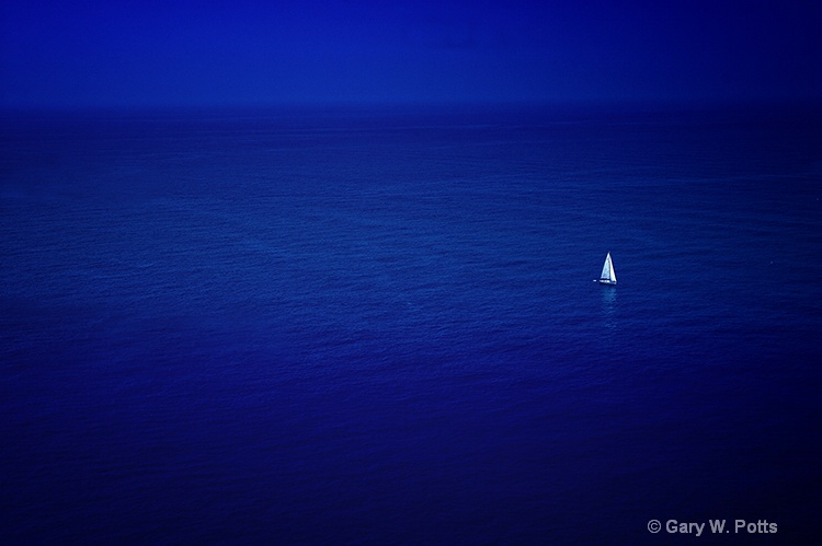 Sailboat In Isolation