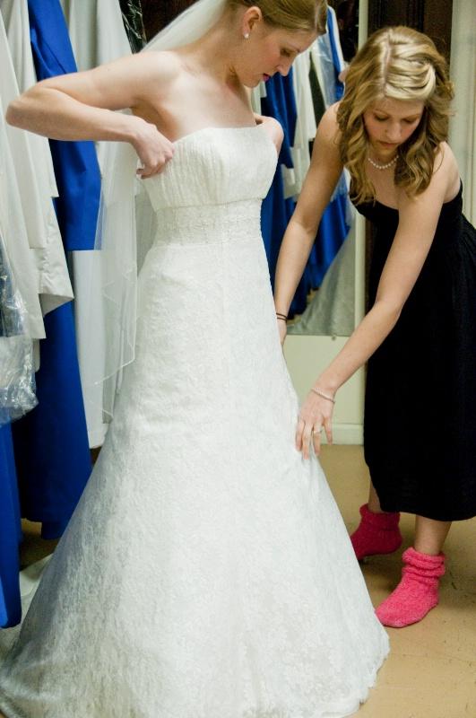 Katie Getting into Dress