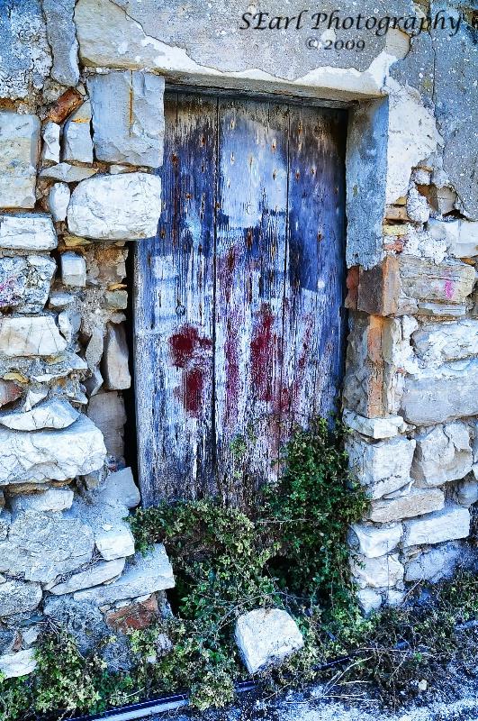Door at Cemetery in Greece