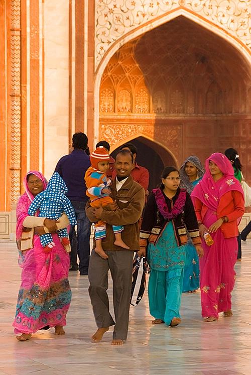 Family Outing at the Taj Mahal
