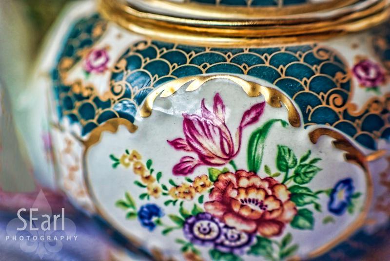 Macro of Teapot