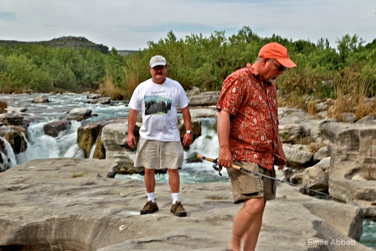 Dave Gromlich and Gary Kendrick at Dolan Falls