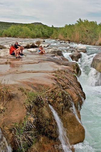 Pam, Ken and Sue at Dolan Falls