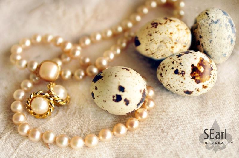 Quail Eggs & Pearls