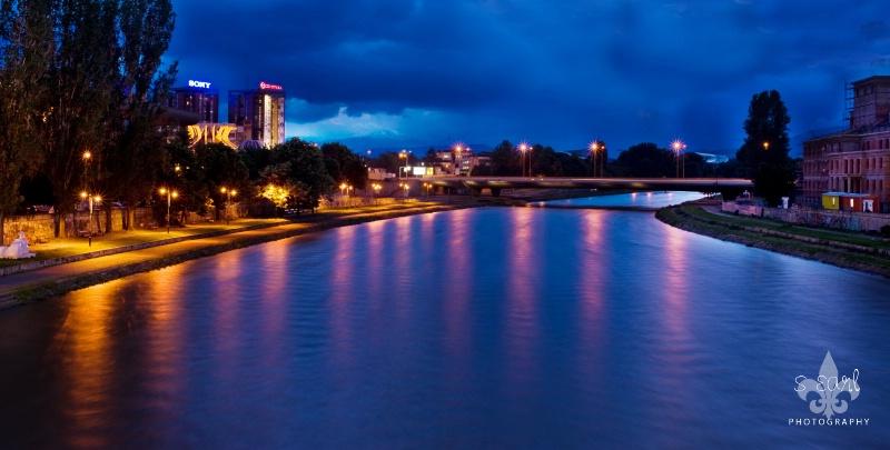Panorama of Vardar River