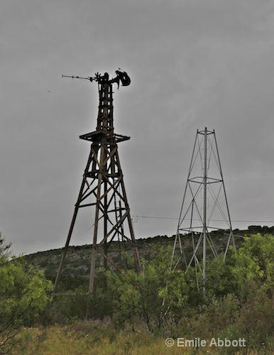 Twin broken windmills