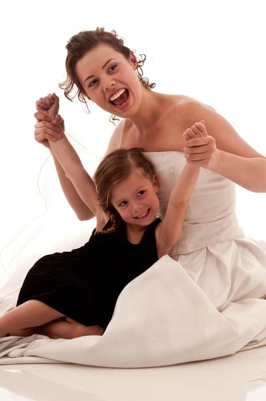 Happy Bride and Child