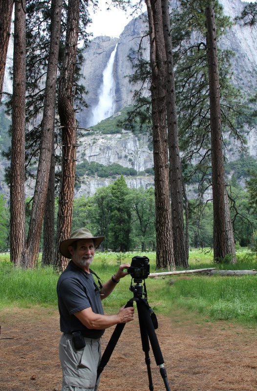 Lewis Kemper at Yosemite Falls