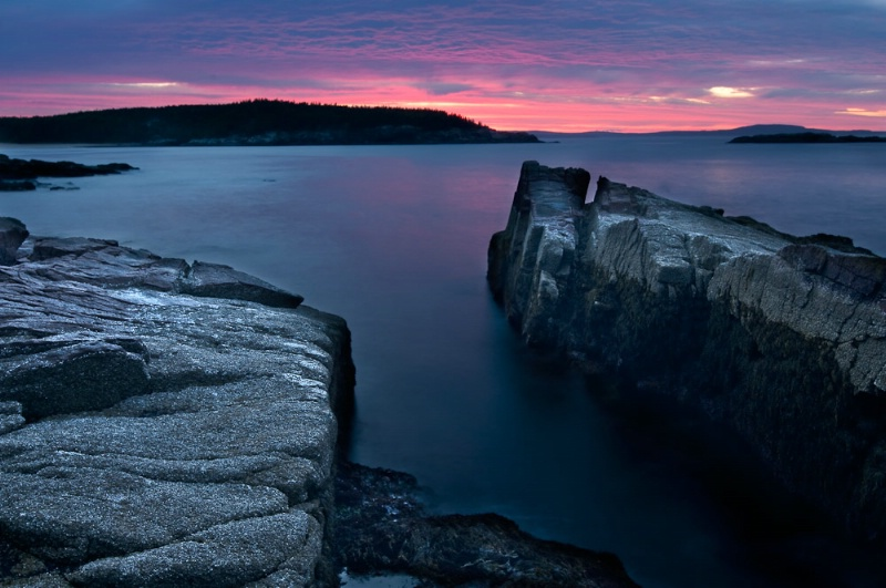 First Light at Thunder Hole - Acadia NP Maine