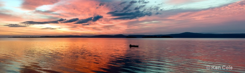 Sunrise over Lake Champlain