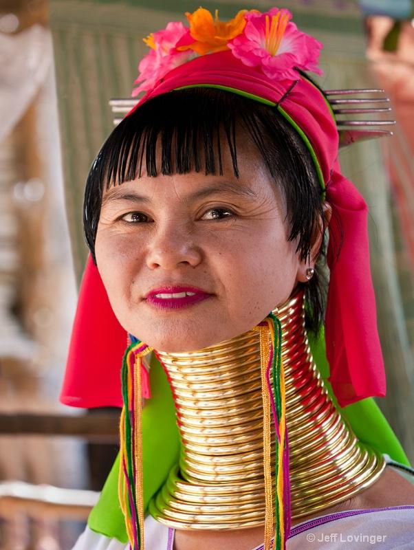 Karen-Padaung Woman, Two, Thailand Hill tribes