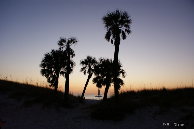 Clearwater Beach Sunset Disappearing