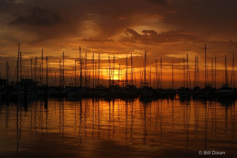 St Pete Marina Sunrise