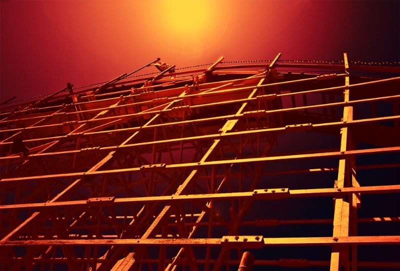Frame-work for the Big Dipper Roller Coaster