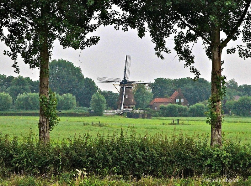Rural Windmill close to Amsterdam along Kanaal