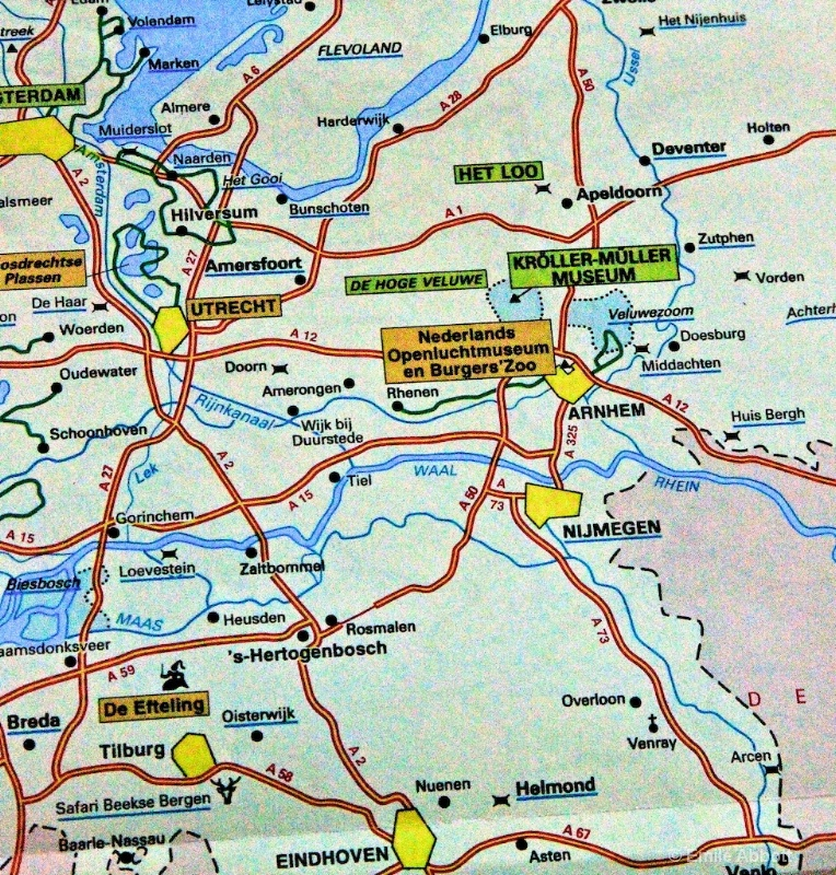 Map of Amsterdam Rijnkanaal to Rhein