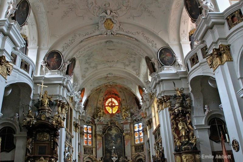 Classic Baroque style of Durnstein Parish Church