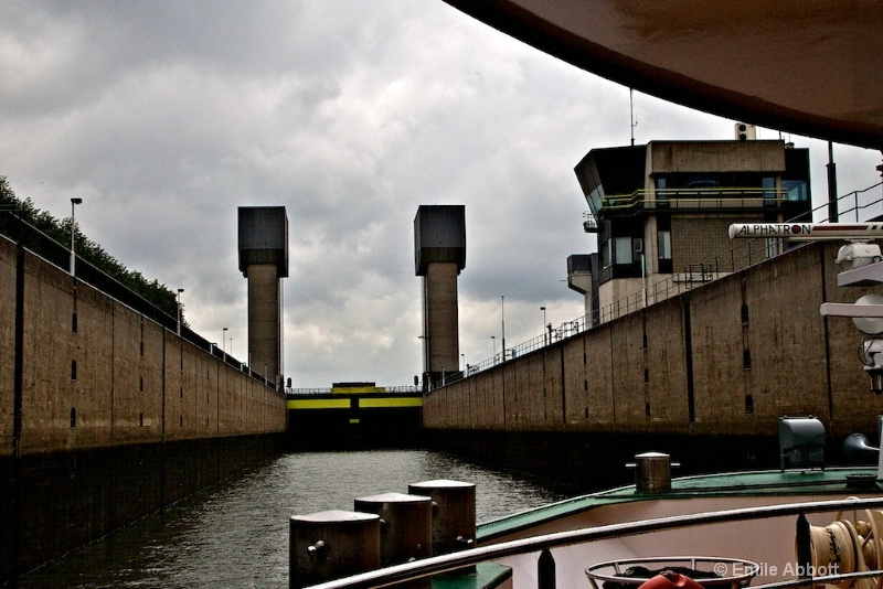 In the first lock to ascend height