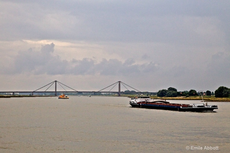 Approaching the famous Nijmegen Bridge