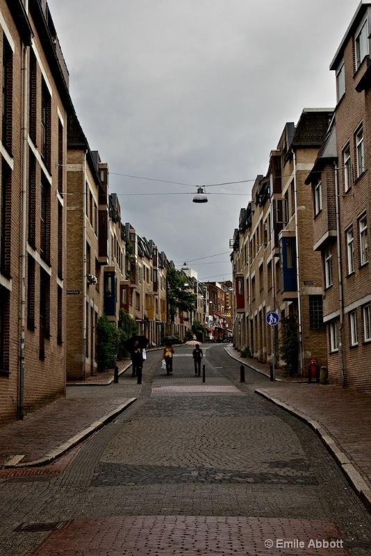 Cobble stone street in Nijmegen