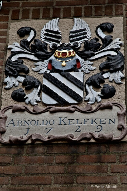 1729 Coat of Arms on building in Nijmegen