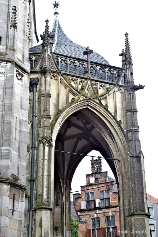 Through the gothic arch of St. Stephenkerk